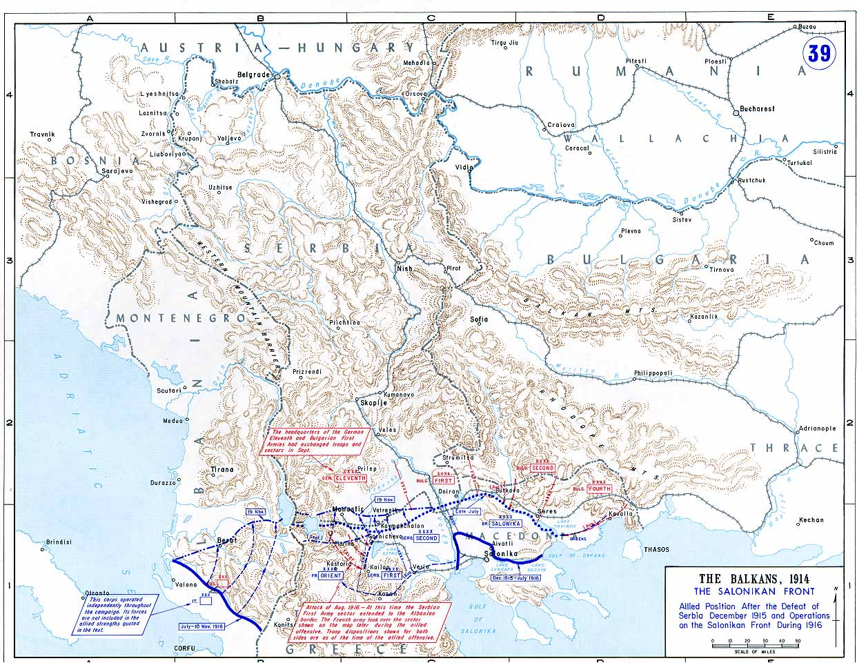 Maps Of The Great War Ww1 Trenches Diagram On Web Timeline British Trench 39 Salonikan Front 1915 1916