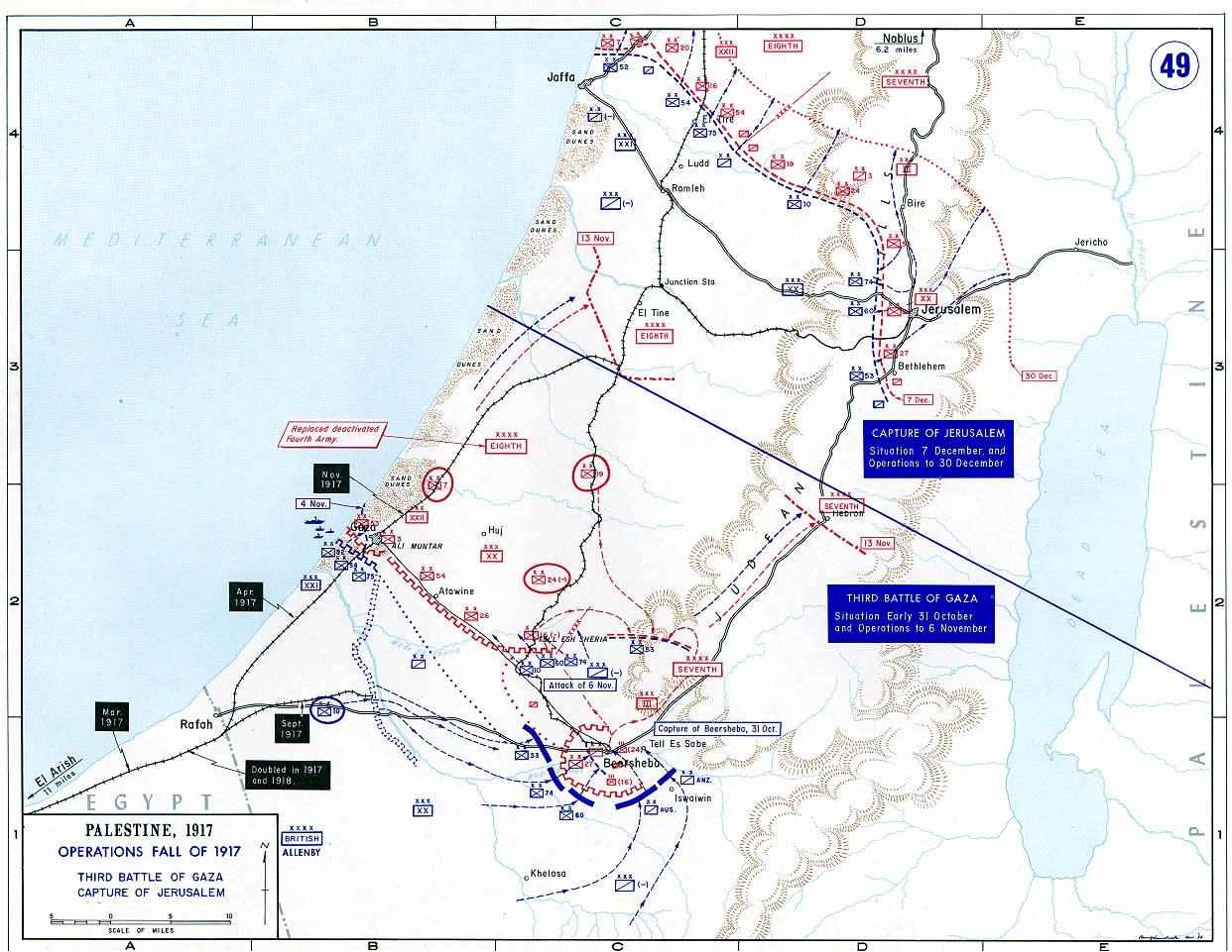 49 palestine the battle of gaza and the capture of jerusalem